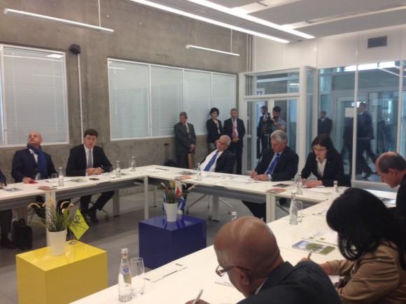Díaz-Canel y la delegación cubana en Rusia