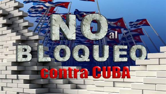 Cartel alegórico al Bloqueo contra Cuba