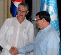Bruno Rodríguez recibe a Mogens Lykketoft en el Minrex. Cuba.