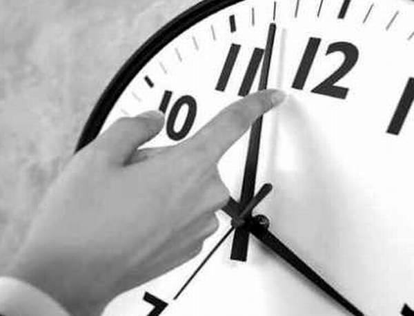 cambio de hora horario normal