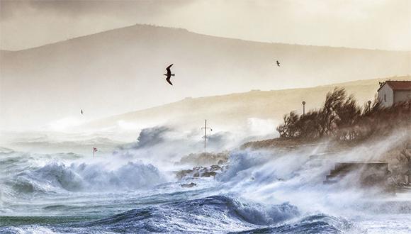 mar tormenta cambio climatico ONU
