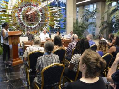 Cálido encuentro de Díaz-Canel con los integrantes de la Trigésima Caravana Pastores por la Paz