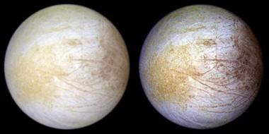 La superficie de Europa es una capa de hielo. Foto: Getty Images.