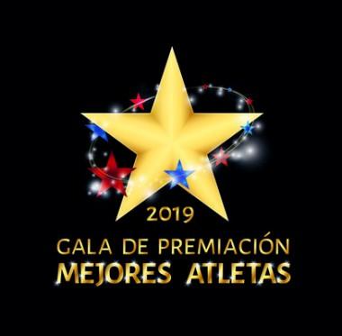 Banner alegórico a la gala de premiaciones a los mejores atletas del 2019