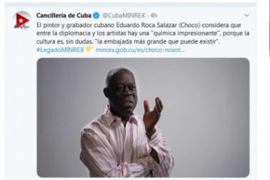 Pintor cubano Choco considera a la cultura embajadora por excelencia