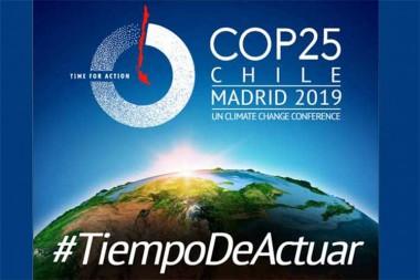 Banner de la Convención Climática COP25