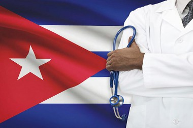 Imagen alegórica a la solidaridad de los médicos cubanos