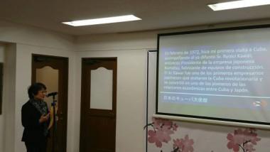Michiyo Yamanaka, traductora de la Embajada cubana en Japón