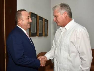 Díaz-Canel y Ministro de Asuntos Exteriores de Turquía