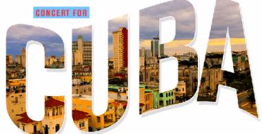Banner alegórico a concierto online en Cuba