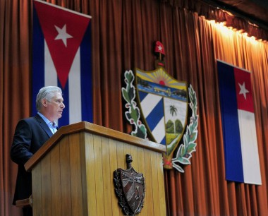 Miguel Mario Díaz-Canel Bermúdez, Presidente de la República de Cuba, en la clausura del V Periodo Ordinario de Sesiones de la IX Legislatura de la Asamblea Nacional del Poder Popular