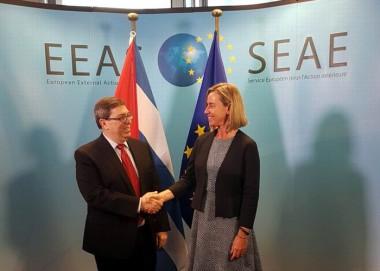 Canciller cubano se reúne con Federica Mogherini en Bruselas