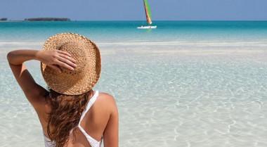 Playa turística cubana