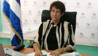 La ministra de Educación, Dra. Ena Elsa Velázquez Cobiella. Foto: Twitter de la Ministra.