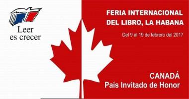 Dedicarán a Canadá Feria del Libro de la Habana 2017