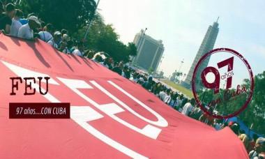 Mensaje de felicitación de la FEU a los universitarios cubanos