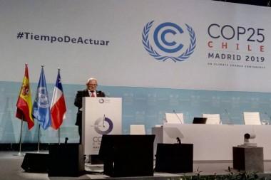 viceministro primero cubano de Ciencia, Tecnología y Medio Ambiente (Citma) José Fidel Santana intervino en nombre de la isla en el Segmento de Alto Nivel en la Convención climática.