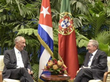 Recibió Raúl Castro al presidente de Portugal
