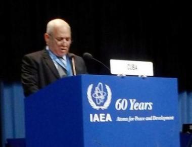 Viceministro de Ciencia, Tecnología y Medioambiente, co. José Fidel Santana, en el debate general de la 60 Conferencia General del Organismo Internacional de la Energía Atómica (OIEA)