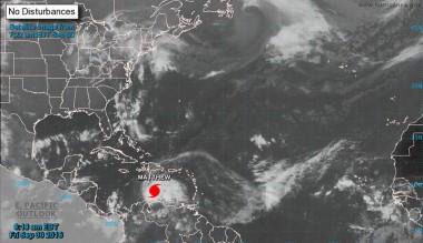 Mapa del satélite Huracán Matthew
