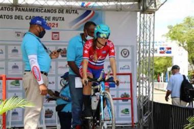 Ciclista cubana
