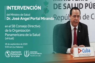 ministro de Salud Pública de Cuba, Jose Ángel Portal